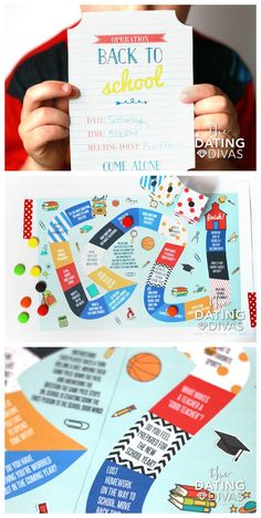 FREE Printable Back to School Game Board- such a fun idea to do with the kids the night before school starts!! I LOVE this idea.  From The Dating Divas