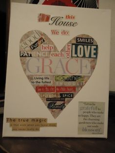 In this house we do: DIY magazine collage