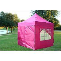 Black Friday 8'x8' Pop up 4 Wall Canopy Party Tent Gazebo Ez Pink - By DELTA…