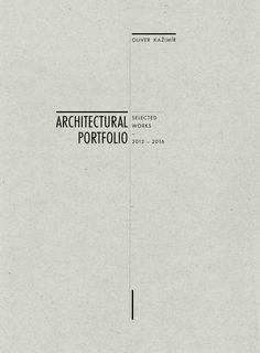 Oliver Kažimír Architectural Portfolio 2016