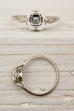 Vintage Asscher Cut Diamond Engagement Ring by Tiffany and Co. this is my dream in a different cut of diamond Asscher Cut Diamond Engagement Ring, Deco Engagement Ring, Tiffany Engagement, Engagement Ideas, Vintage Inspired Engagement Rings, Antique Engagement Rings, Vintage Rings, Vintage Jewelry, Antique Jewelry