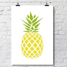 Geometric Pineapple Poster by LuhDesign on Etsy https://www.etsy.com/listing/236583598/geometric-pineapple-poster