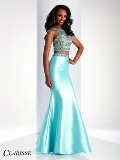 2017 Two-Piece Scoop Beaded Bodice Open Back Satin Mermaid Prom Dresses Backless Mermaid Prom Dresses, Mermaid Prom Dresses Lace, Prom Dresses With Sleeves, Expensive Prom Dresses, Unique Prom Dresses, Prom Dresses 2018, Prom Girl, Formal Gowns, Designer Dresses
