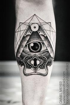 Geometric Eye tattoo by Daniel Meyer via LEITBILD
