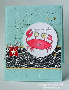 snappy crab convention swap - Stampin' Up! - SU - You're Sublime stamp set (by Amy O'Neill)