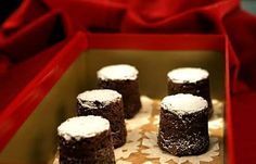 Thomas Keller's chocolate bouchons have a texture somewhere between dense cake and denser brownies. Click here for the recipe.