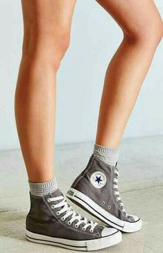 Size 10 Converse Chuck Taylor All Star High-Top Sneaker with socks High Top Sneakers, Sneakers Mode, Converse Sneakers, Converse Shoes High Top, Sock Shoes, Cute Shoes, Me Too Shoes, Shoe Boots, How To Wear Converse