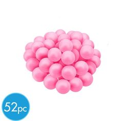 Light Pink Mini Gumballs 52pc (mix with purple)