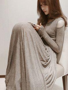 love this long-sleeve bohemian maxi dress, :)