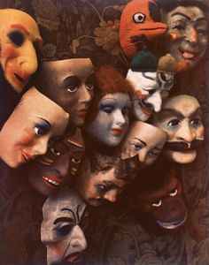 Masks, Boston (1966); Photograph by Marie Cosindas/Courtesy of Bruce Silverstein Gallery