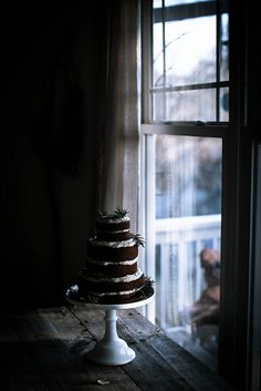 """delta-breezes: """"gingerbread sorghum cake + cream cheese mascarpone frosting by Beth Kirby 