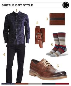 Pop icon Joe Jonas not only knows how to sing and dance, but he also can sport the subtle dots with class. You too can pull this look off with the daily outfit.