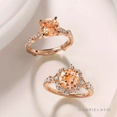 Style: ER96711,ER914411.  #GabrielNY #DiamondJewelry #FineJewelry#GabrielAndCo #UniqueJewelry#gabrielengagementring #gabrielring #gabrielwedding#BridalRing #BeautifulEngagementRing #DiamondRing #UniqueDiamondRing #ClassicRing#VintageEngagement#Morganite#RoseGoldEngagement #RoseGoldRing Alternative Engagement Rings, Beautiful Engagement Rings, Perfect Engagement Ring, Vintage Engagement Rings, Unique Diamond Rings, Diamond Wedding Rings, Diamond Bands, Diamond Engagement Rings, Estate Engagement Ring