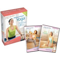 Stott Pilates Pilates-infused Yoga DVD Two-Pack Pilates Workout, Workout Gear, Butterfly Pose, Mountain Pose, Ultimate Workout, Personal Defense, Dvd Set, Vinyasa Yoga, Nice Body