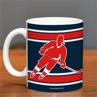 Hockey Player Ceramic Mug Personalize With Your Jersey Number Gifts