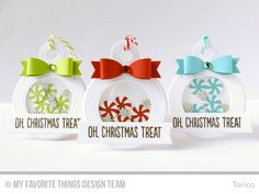 Handmade Christmas tags from Torico featuring Tag Builder Blueprints 4