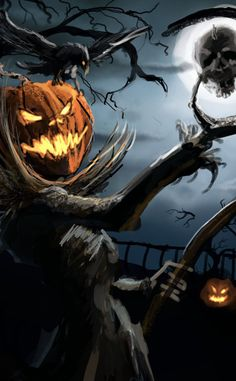 Halloween, Halloween, Halloween!  Say it 3 times and the person you least like in life will turn into and Uncarved Pumpkin!!  The horror!  The horror!