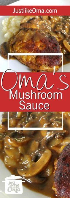 Oma's Mushroom Gravy Recipe❤️ - Serve as fried mushrooms or turn them into a traditional sauce, just like Oma ❤️ Recipe: www. Fried Mushrooms, Stuffed Mushrooms, 21 Day Fix, Fried Mushroom Recipes, Mushrooms Recipes, Mushroom Gravy, Mushroom Sauce, Meat Sauce Recipes, Hungarian Recipes