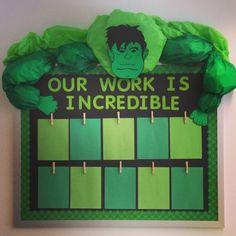 Superhero Classroom Bulletin Board - 25 Creative Bulletin Board Ideas for Kids, http://hative.com/creative-bulletin-board-ideas-for-kids/,