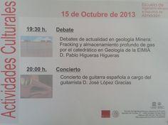 Actividades Culturales programadas por la E.I.M.I.Almadén
