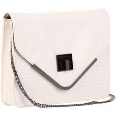 BCBGeneration White Charlie Envelope Shoulder Bag www.BagLane.com