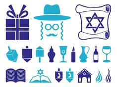 This set of Hanukkah icons features a dreidels, flames, a synagogue ...: https://www.pinterest.com/evohosting/27-more-of-the-best-free...