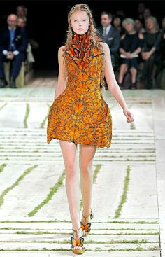 Alexander McQueen butterfly dress