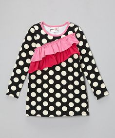 Look what I found on #zulily! Black Polka Dot Millie Dress - Infant, Toddler & Girls by Sweet Jewelea #zulilyfinds