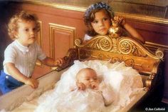 yoursweetremedy:  Crown Princess Victoria with Prince Carl Philip and baby Princess Madeline of Sweden