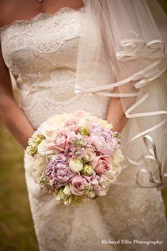 Pastel wedding bouquet by Richard Ellis Photography Spring Wedding Flowers, Bridal Flowers, Flower Bouquet Wedding, Floral Wedding, Flower Bouquets, Dream Wedding, Wedding Day, Wedding Dreams, Wedding Stuff