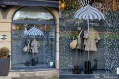 Our Autumn showcase. Miss Valentina children's and youth fashion store. We are in Las Arenas (Getxo-Vizcaya) and in www.es - New Deko Sites Visual Display, Display Design, Store Design, Spring Window Display, Store Window Displays, Retail Displays, Autumn Window Display Retail, Deco Cafe, Vitrine Design
