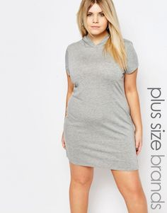 Boohoo Plus Hooded Sweat Dress ** More info could be found at the image url.