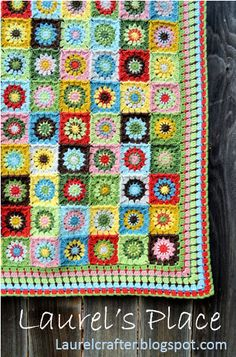 Laurel's /place: Grandma's Knickknacks Crochet Blanket