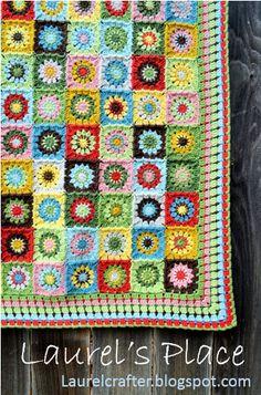 Laurel's /place: Grandma's Knickknacks Crochet Blanket