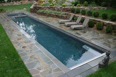 Lap Pool with Bluestone Border