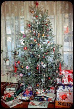 Vintage Christmas Photos, Old Fashioned Christmas, Christmas Past, Retro Christmas, Christmas Pictures, All Things Christmas, Christmas Holidays, Prim Christmas, Christmas Tree With Tinsel