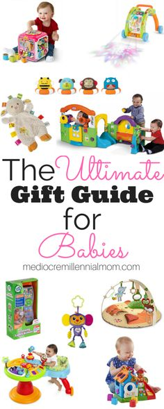 The Ultimate Gift Guide for Babies. Presents for babies 0-12 months. Educational toys, baby gear and stocking stuffers for babies. Buying gifts for baby boys and baby girls.