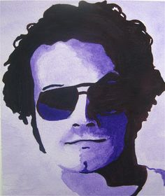Hyde from That 70s show. Watercolour