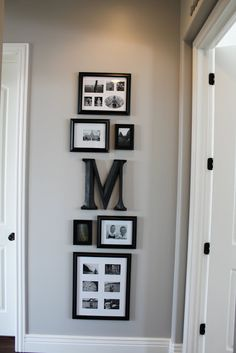 picture arrangement inspiration - something to finally do with my letter M!
