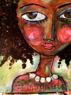 rachelle+panagarry+art+pinterest | Original Mixed Media Art by Rachelle Panagarry by ArtEyeCandy, $120.00