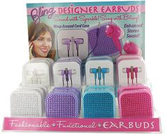 Bling Earbuds Case Pack 24