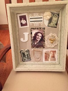 Memorial shadow box for my grandmother