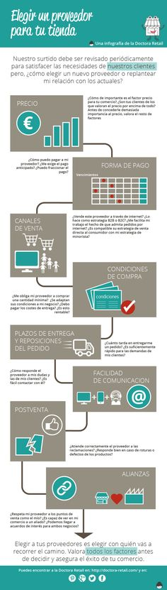 Cómo elegir los proveedores para tu Tienda #infografia #infographic #marketing