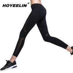 Find More Yoga Pants Information about HoYeeLin Yoga Pants Sports Running Leggings For Gym Sexy Mesh Elastic Fitness Leggings Tights Women High Waist Push Up Female,High Quality yoga pants,China women yoga pants Suppliers, Cheap women yoga from HoYeeLin Official Store on Aliexpress.com Women's Sports Leggings, Running Leggings, Tight Leggings, Workout Leggings, Sport Pants, Sports Women, Yoga Pants, Push Up, Tights