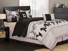 $94.99 11 Piece King Rene Black and Beige Bed in a Bag Set by KingLinen, http://www.amazon.com/dp/B005KWX262/ref=cm_sw_r_pi_dp_57Kxqb1ZBBH4X