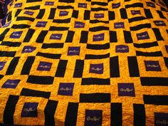 The Crown Royal Quilt is finished! After 5 years of collecting bags, months of searching for a pattern, and days of working on this quilt, . Crown Royal Quilt, Crown Royal Bags, Quilting Room, How To Finish A Quilt, Pattern Blocks, Square Quilt, Quilting Designs, Quilt Blocks, Quilts