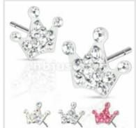 Surgical Steel Multi Paved Crown Ferido Stud Earring