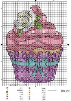 Cupcake Cross Stitch, Cross Stitch Pillow, Cross Stitch Bookmarks, Cross Stitch Books, Cross Stitch Cards, Cross Stitching, Cross Stitch Embroidery, Cross Stitch House, Cross Stitch Kitchen