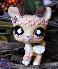 Littlest Pet Shop Forest Spirit Vera ooak custom figure LPS Angel guardian chibi #Hasbro