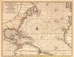 Atlantic ocean historical map